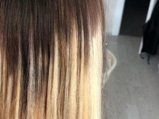 Наращивание волос и коррекция.