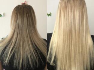 Наращивание волос, коррекция