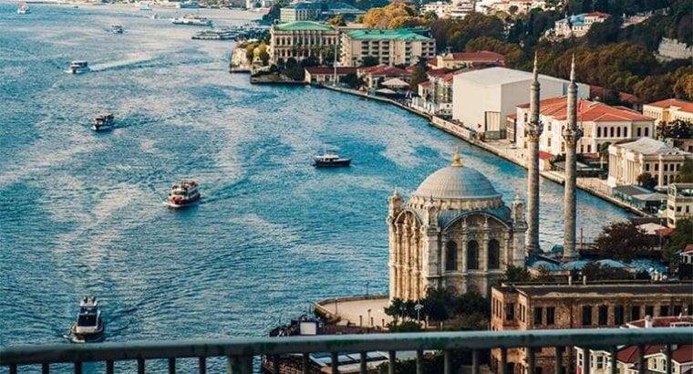 Панорамный вид на Стамбул.