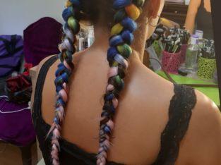 Плетение кос с канекалоном, афрозатылок