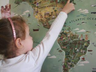 Игровая и обучающая карта мира и Турции