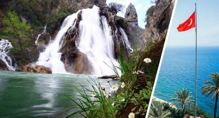 В Анталии полностью пересох популярный у туристов водопад